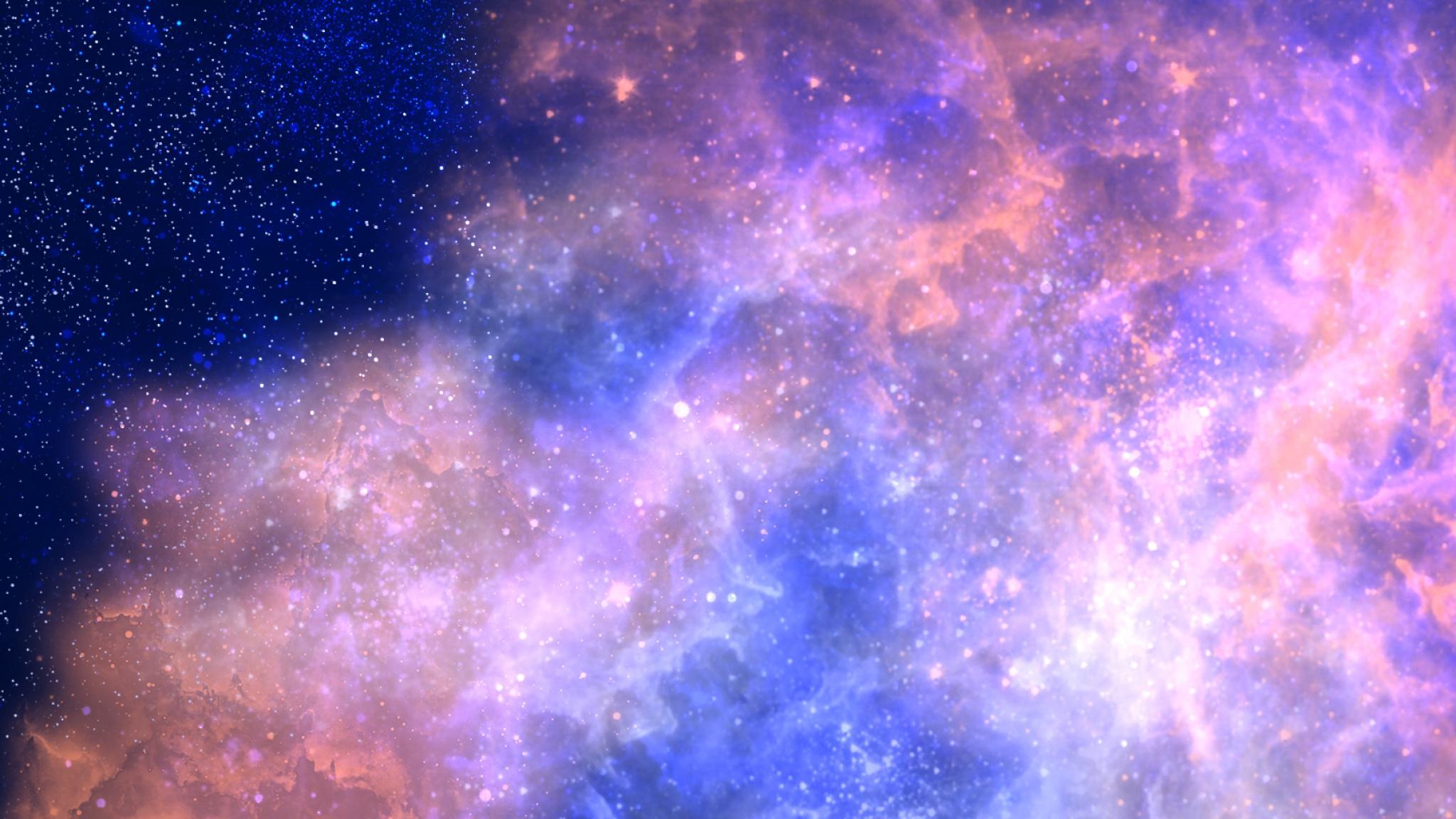 Download Wallpaper 2048x1152 Space Stars Nebulae Aurora HD HD 2048x1152