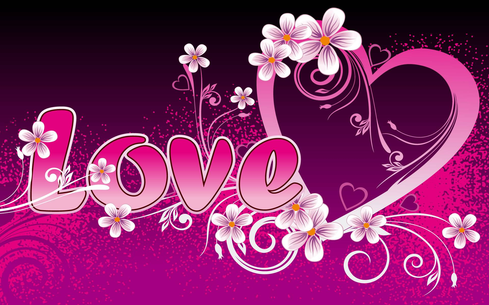 pink love heart   pink and purple Wallpaper 1920x1200