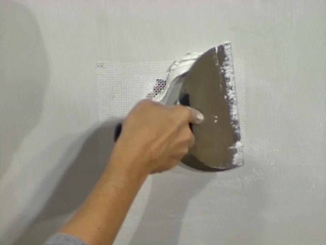 How to Patch Drywall with Fiberglass Mesh how tos DIY 1280x960