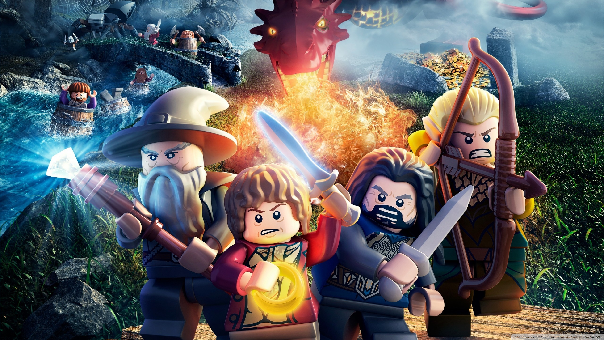 lego the hobbit 2014 video game wallpaper 2560x1440 Wallpaper 4K 2560x1440