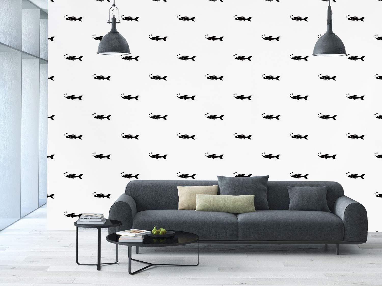 Amazoncom Large Wall Mural Sticker [ AquariumCute Little Black 1500x1125