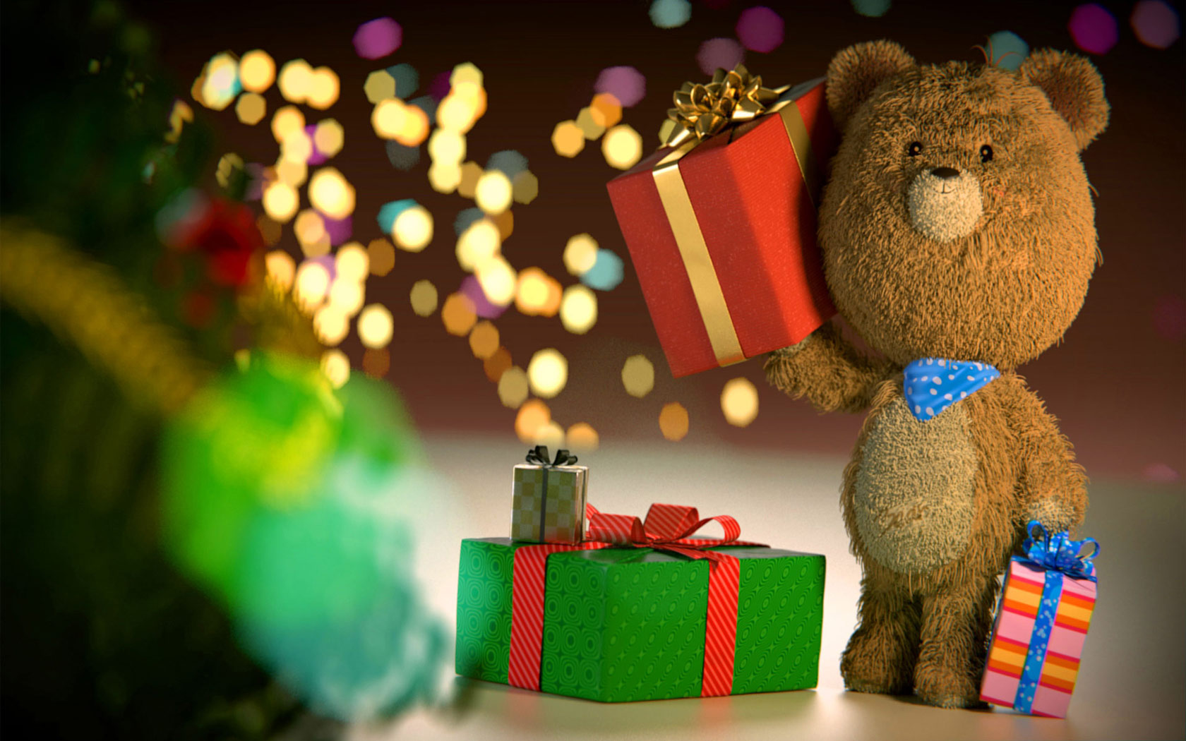 Christmas Teddy Bear Wallpaper: Teddy Bear Wallpaper And Screensavers