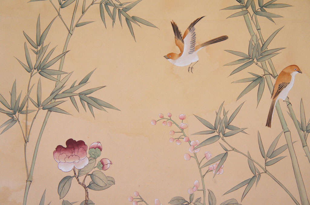 Pair of de Gournay Hand Painted Wallpaper Panels at 1stdibs 1024x679