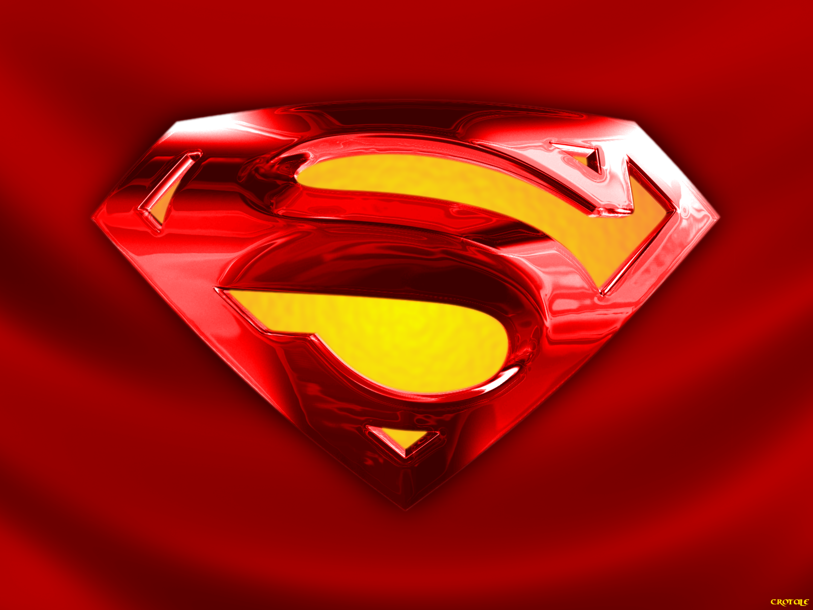 Superman Shield on red cape by Crotale 1600x1200