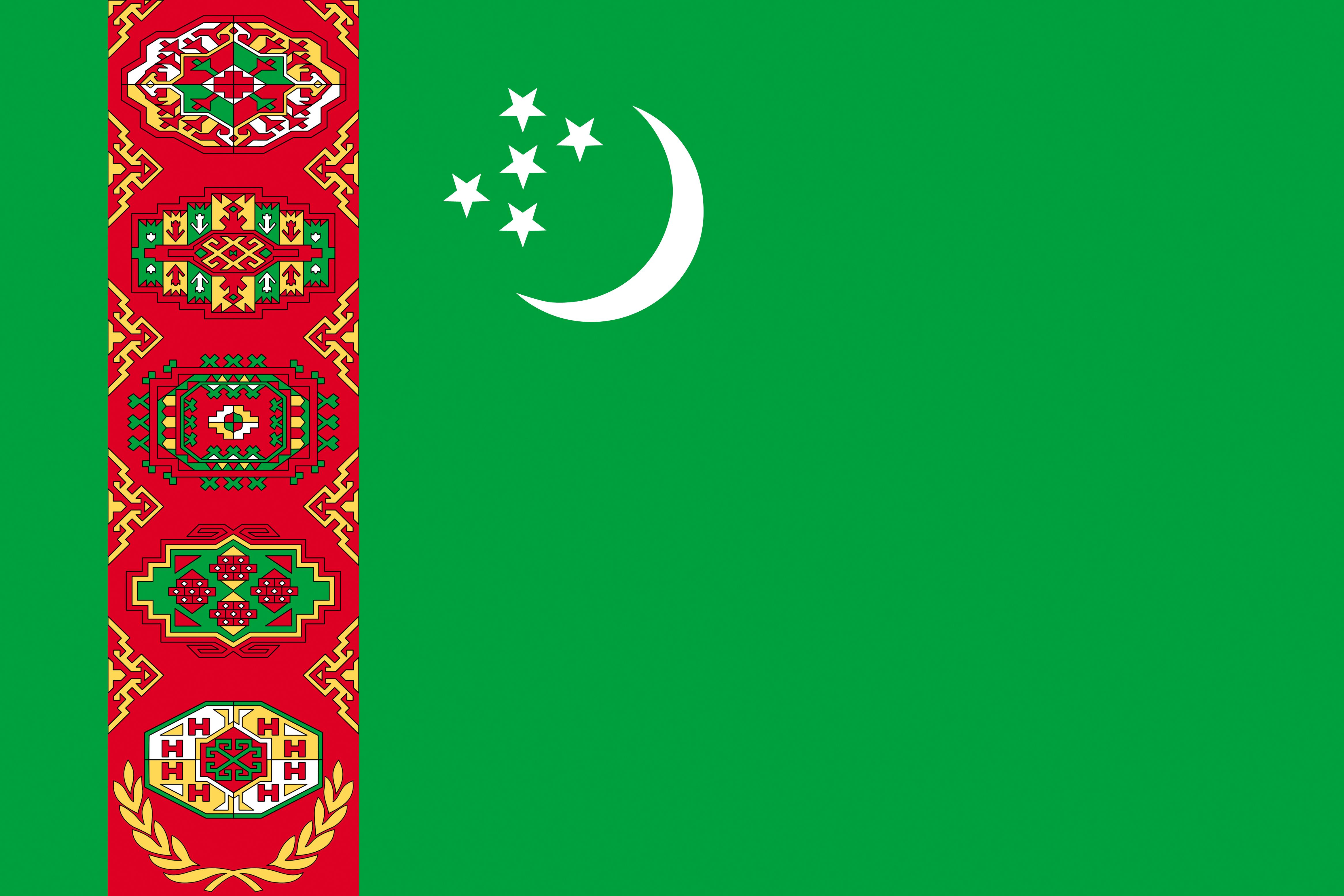 Photos Turkmenistan Flag 4667x3111 4667x3111
