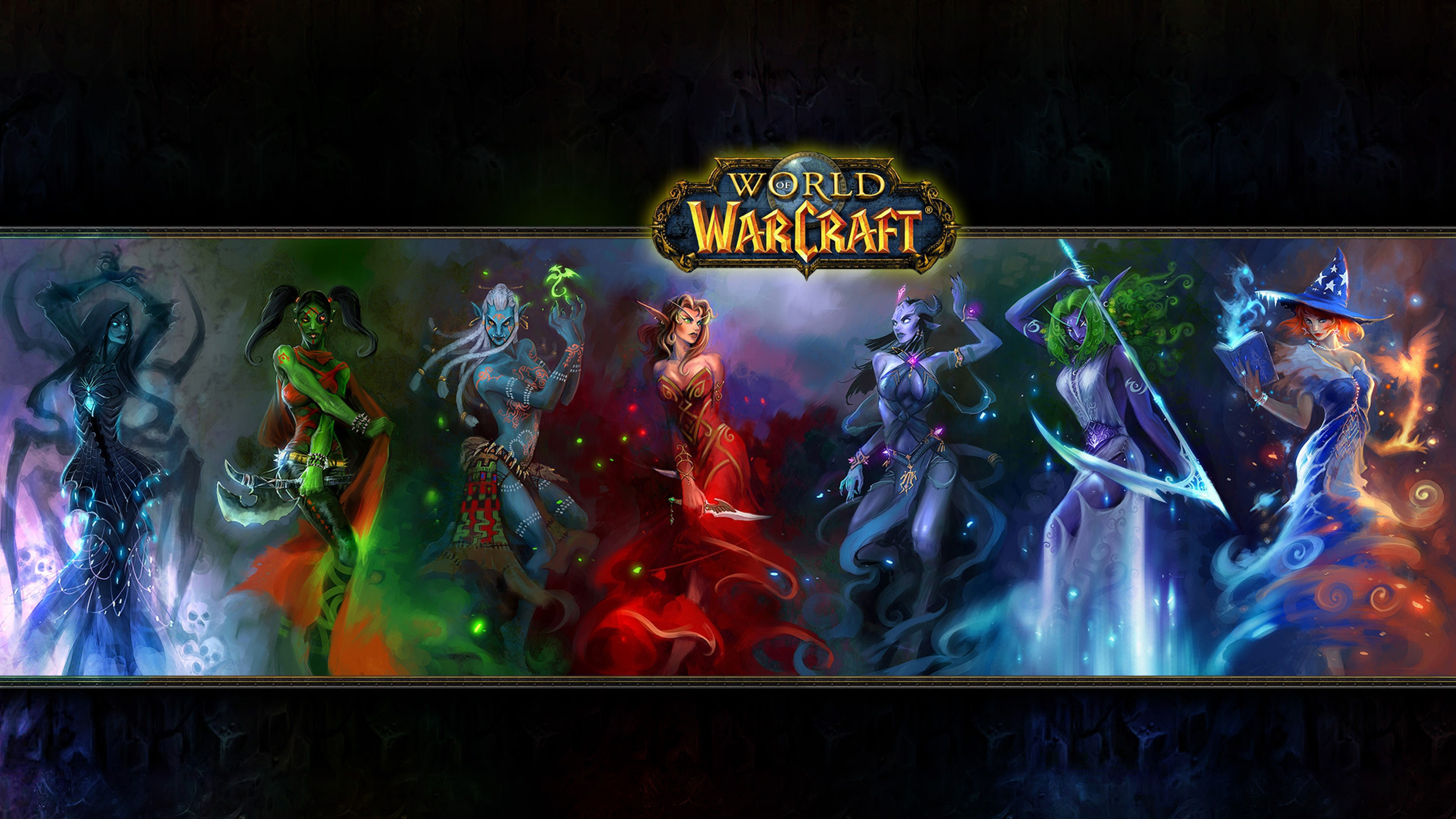 World of warcraft Characters Faces Fan art Wallpaper Background 4K 3840x2160