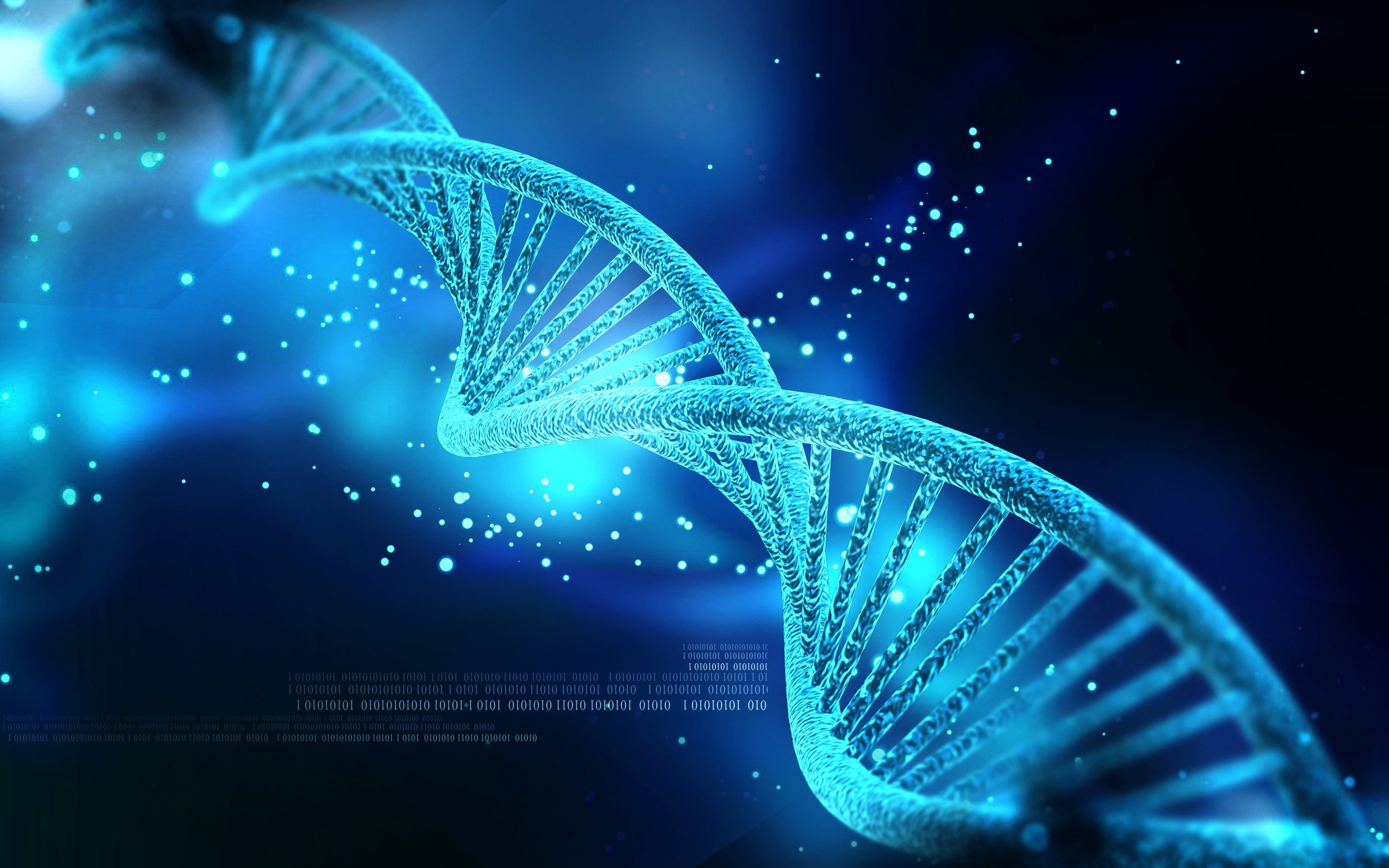 DNA 3 d structure molecule pattern abstraction genetic psychedelic 3000x1875