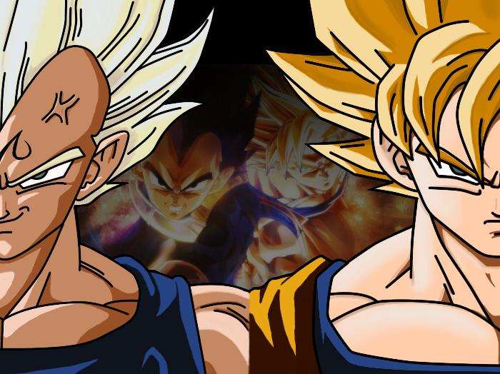 Goku And Vegeta Wallpaper Goku and vegeta background by 700x524