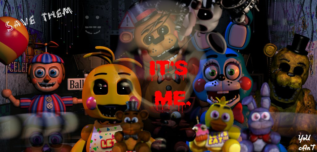 FNAF 2 Wallpaper by da Cupcake Princess 1024x492