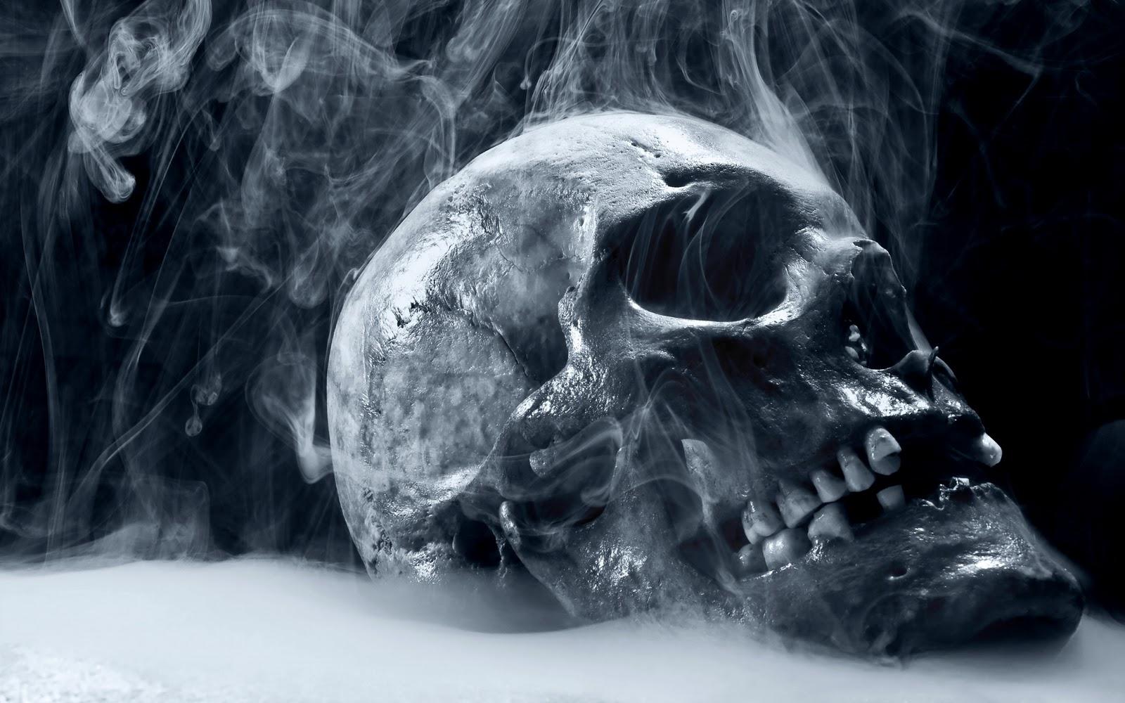 Archive Miscellaneous Skull smoking skull horror hd wallpaperjpg 1600x1000