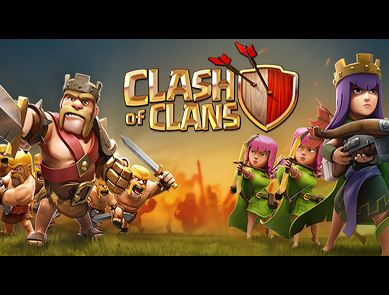 Attack Barbarian King and Archer Queen Wallpaper Clash Of Clans 790x600