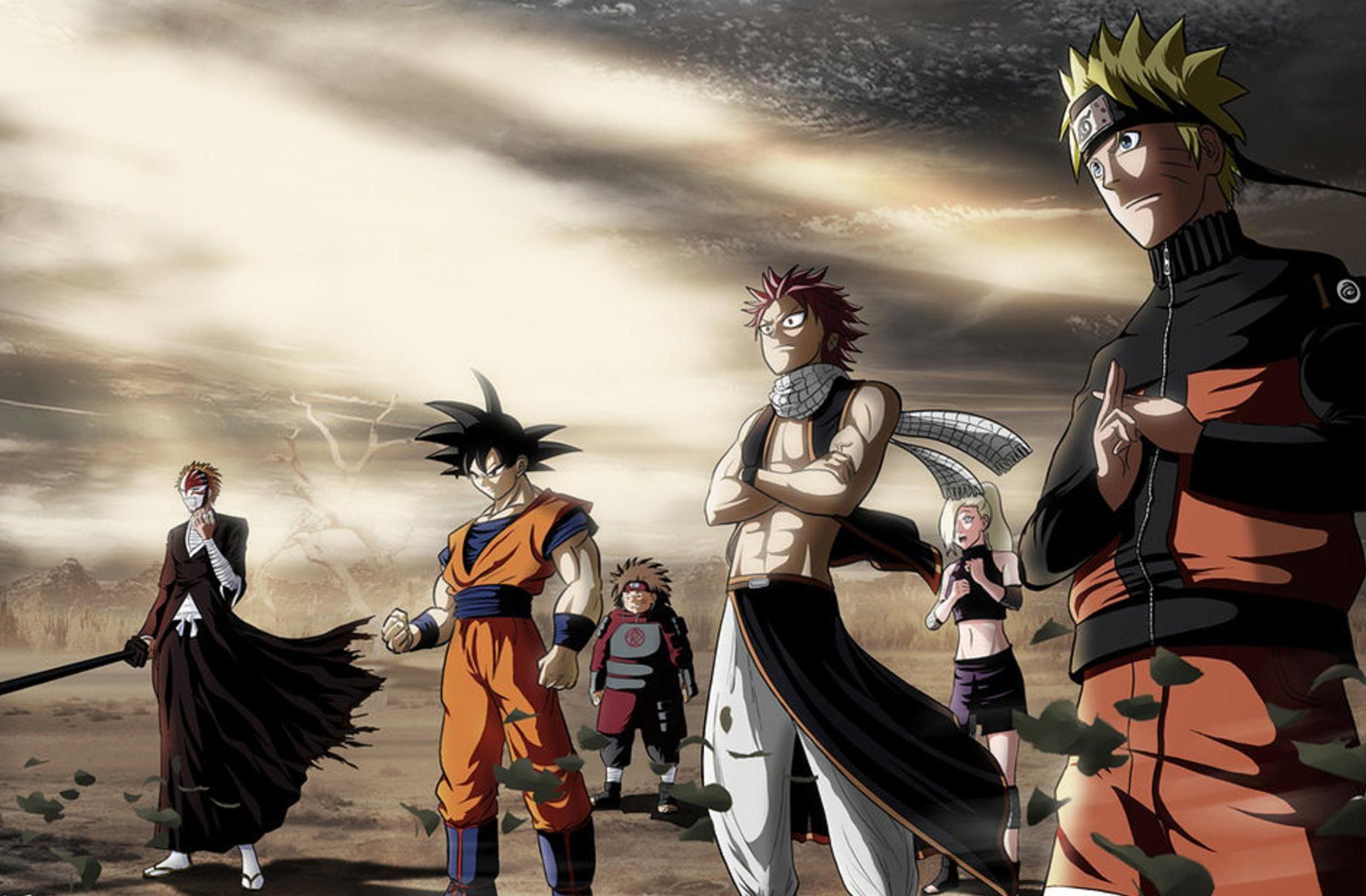 Naruto and Goku Wallpaper 1890x1240