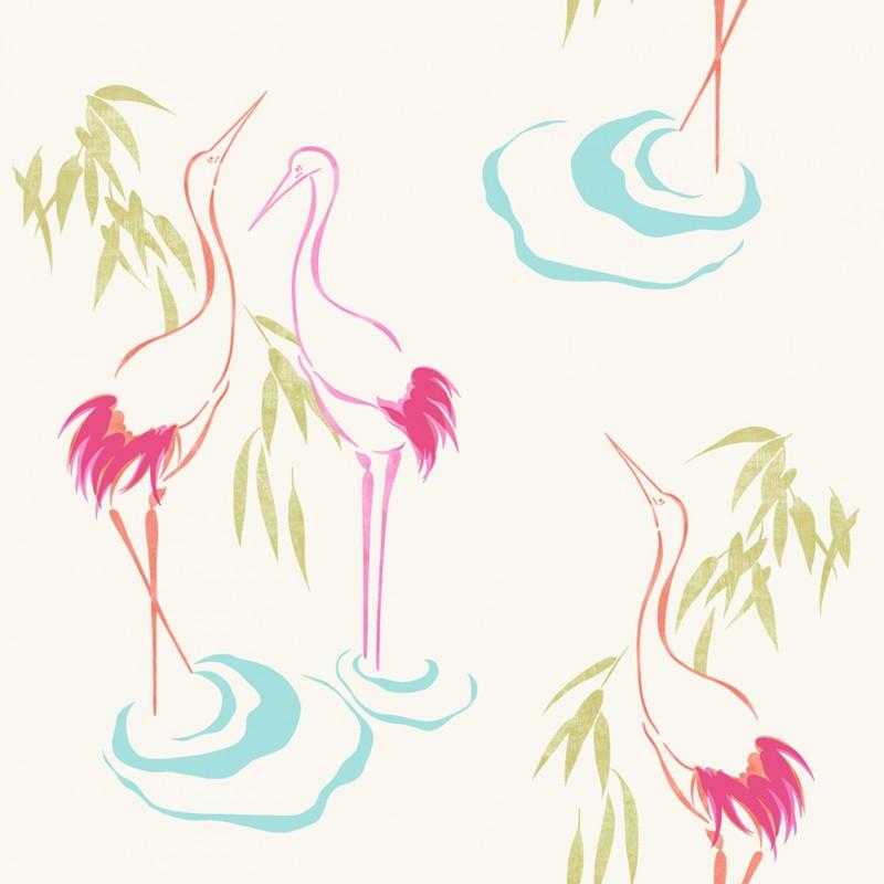 Home Curiosity Flamingo Cream Pink Wallpaper by Rasch 263519 800x800