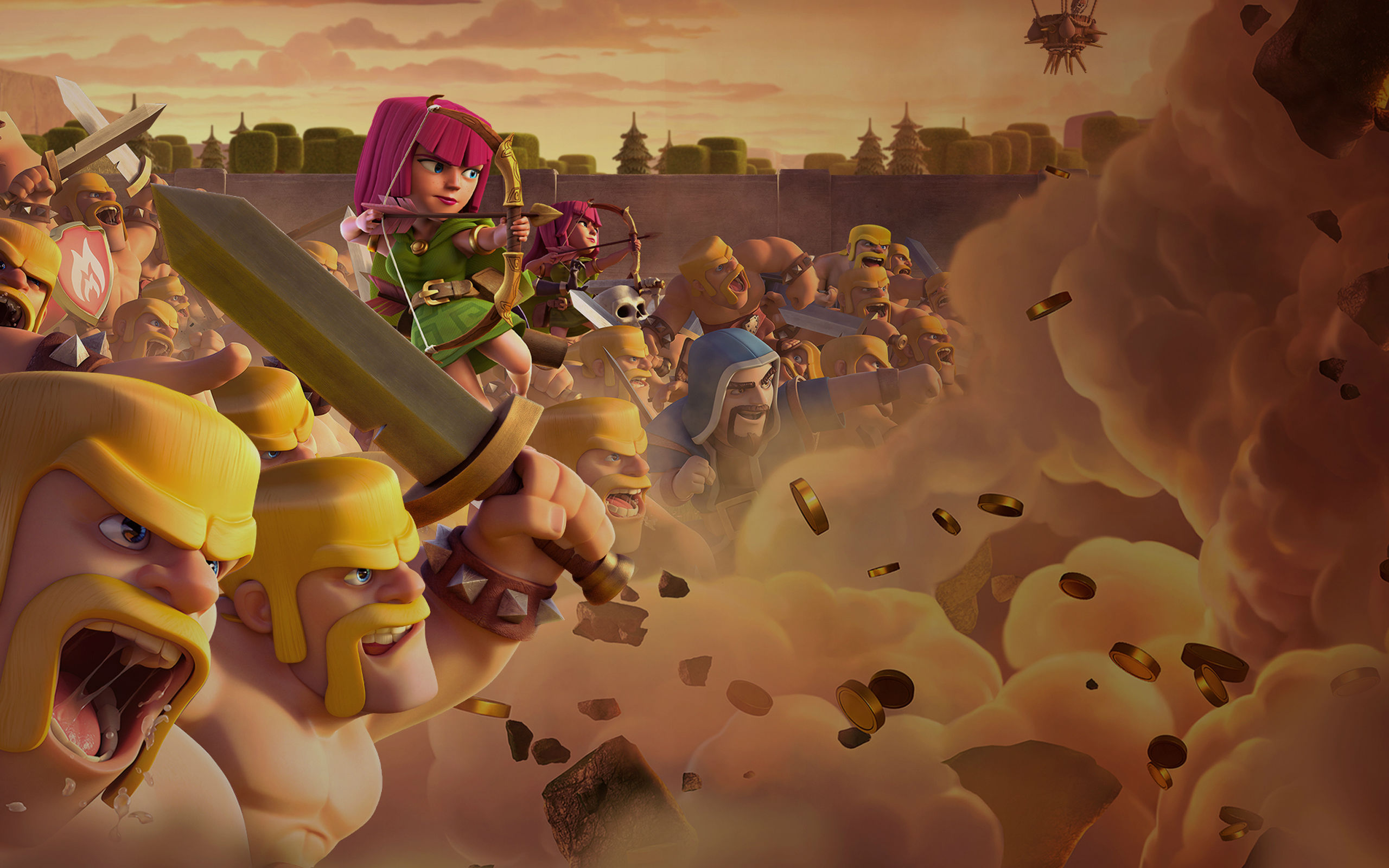 Clash of Clans Games 4k Ultra HD wallpaper   HD Wallpapers 2560x1600