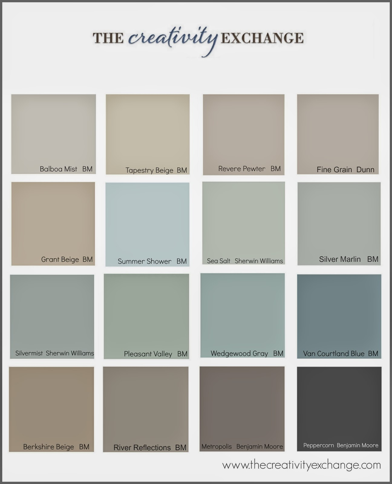 Collection of the most popularpinned paint colors on Pinterest Paint 1296x1600