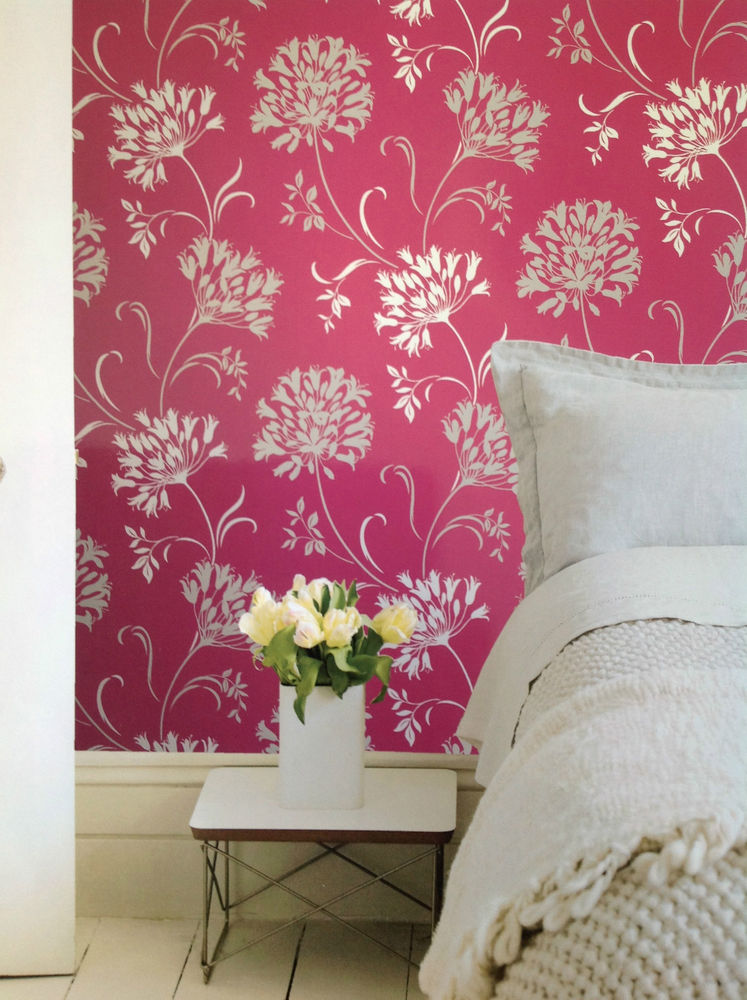 Luxury Feature Wallpaper Pink Cream Gold Floral Reduced to clear was 747x1000