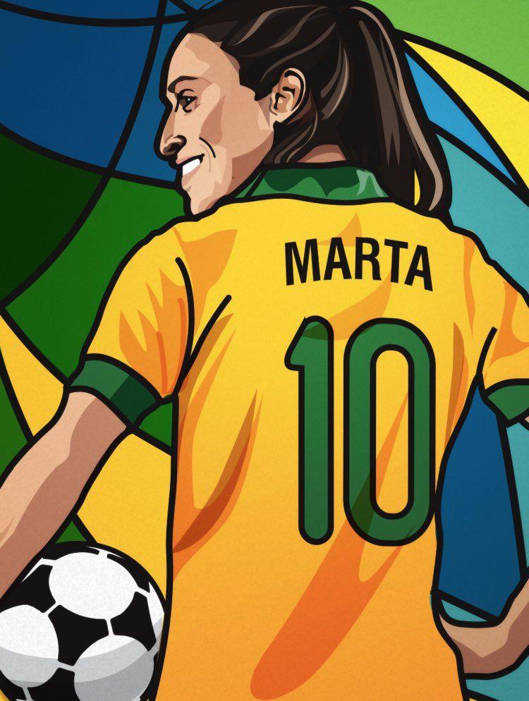 Marta Vieira da Silva art Pro Womens Soccer Football 750x994