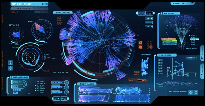 Science lab screen graphics Note the pervasive usage of magenta 720x371