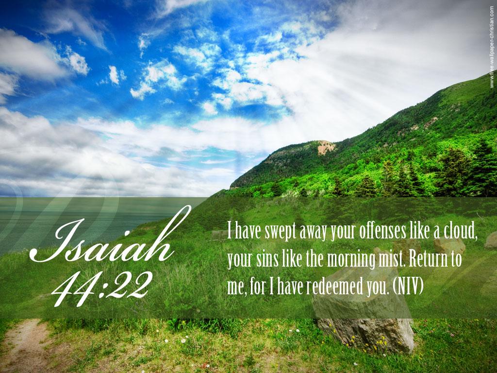 Isaiah 4422   Redeemed Wallpaper   Christian Wallpapers 1024x768