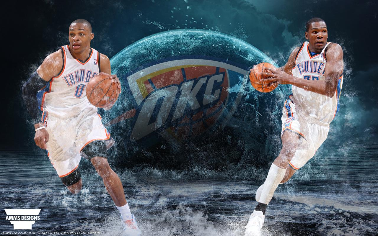 Kevin Durant And Russell Westbrook 2016 Wallpapers 1280x800