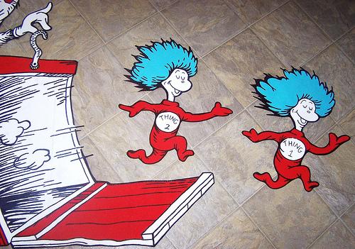 Dr Seuss Dr Suess Theme Wallpaper Wall paper Art Sticker Flickr 500x351