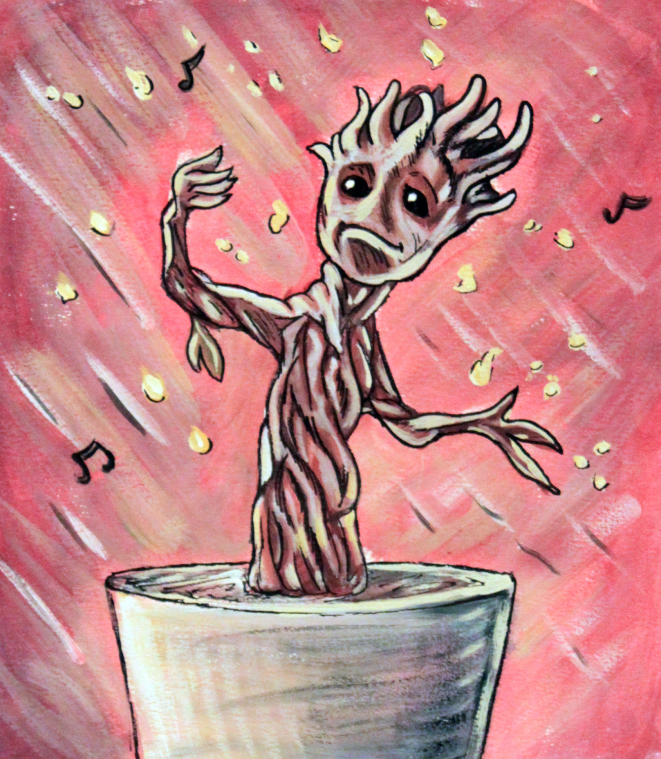 Baby Groot Drawing 1305x1500