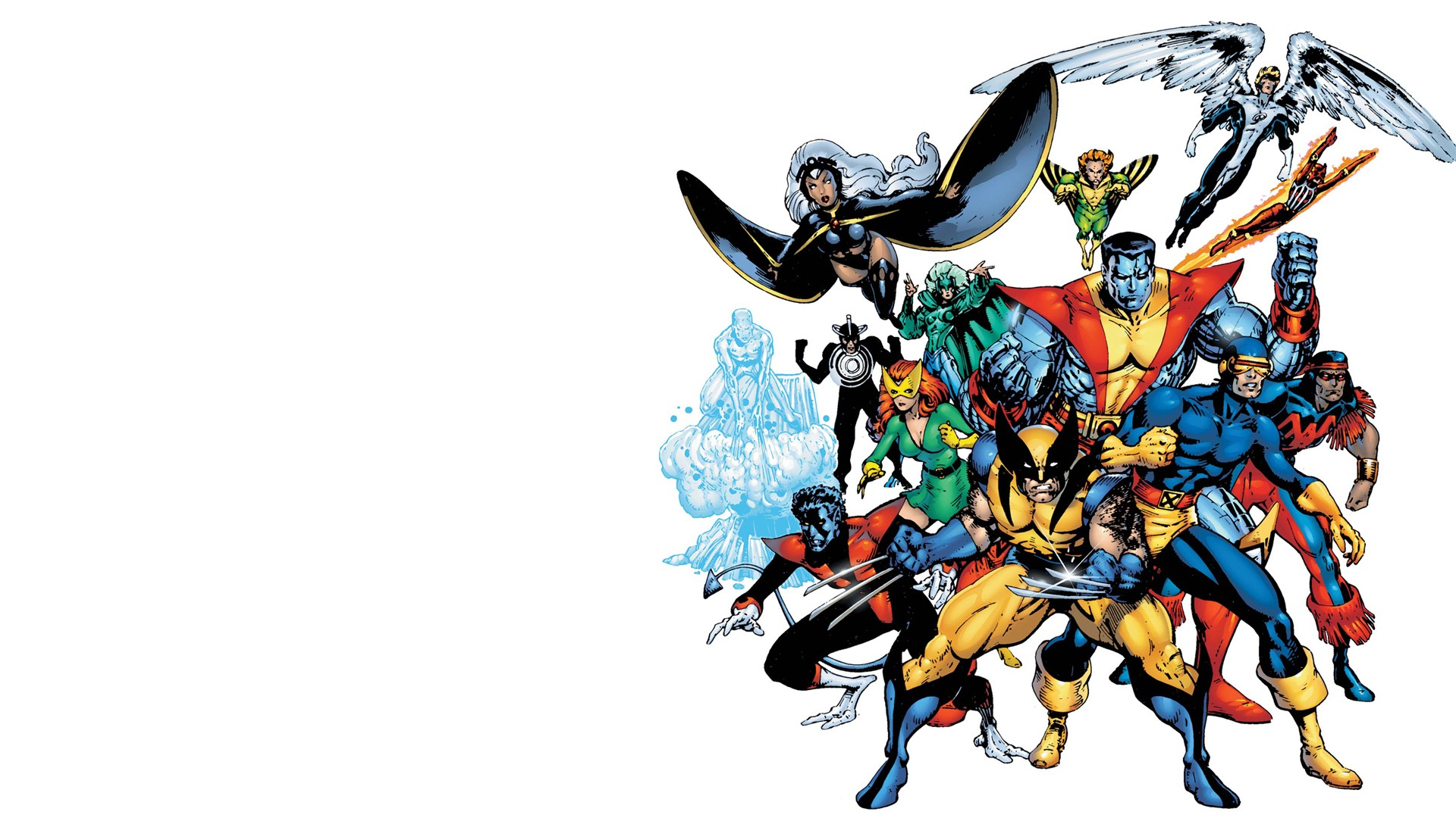 Comics   X Men Storm Cyclops Wolverine Nightcrawler Wallpaper 1920x1080