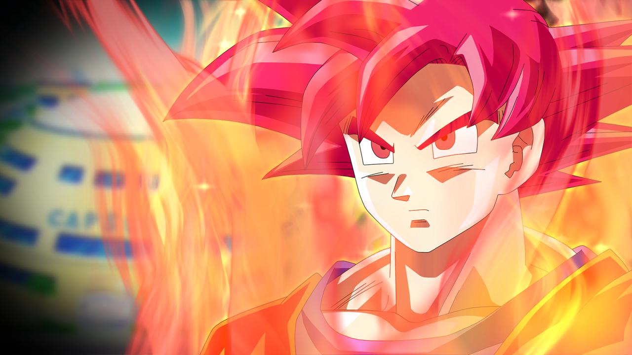 Super Saiyan God Goku Wallpaper Battle of Gods by RayzorBlade189 on 1280x720