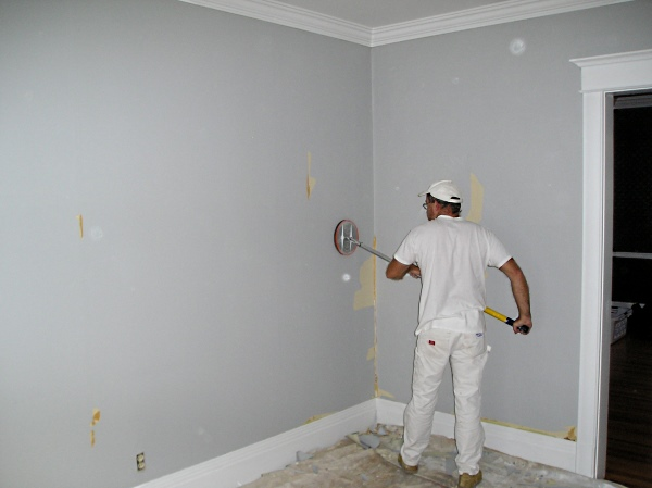 Sanding walls smooth after stripping wallpaper 600x449
