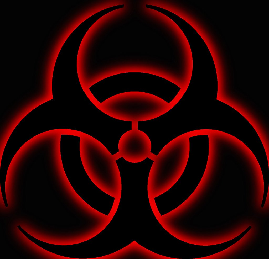 how to draw a biohazard sign