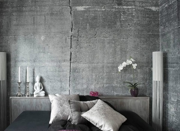 Concrete Wallpapers for An Original Industrial Look by Tom Haga 600x437