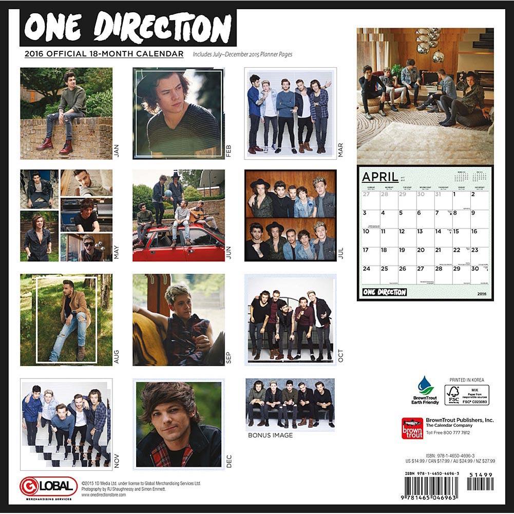 Official calendar 2016   One Direction Wallpaper 38567704 1001x1001