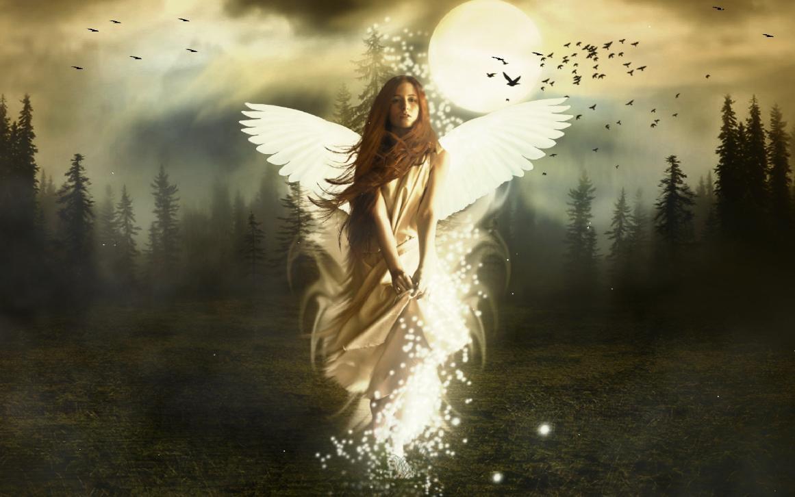 Beautiful Angel Screensaver 1161x726