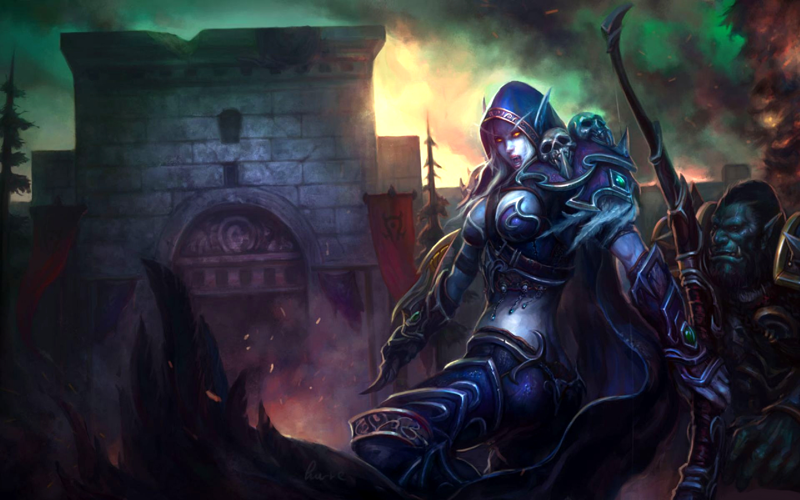 Free Download Night Elf Assault Art Id 28061 2560x1600 For Your
