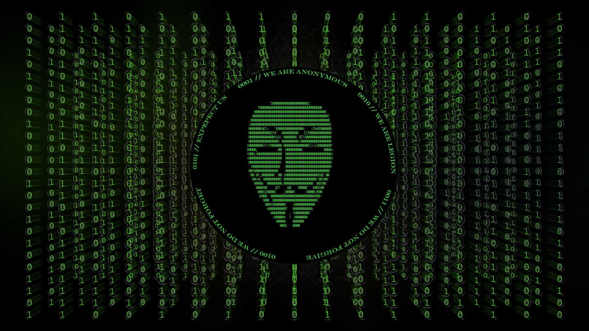Download a very cool set of hd wallpapers with the Anonymous hackers 1920x1080