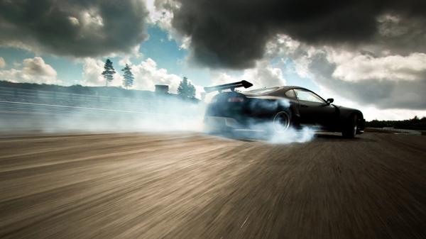 clouds cars toyota supra drifting 1920x1080 wallpaper Vehicles Cars HD 600x337