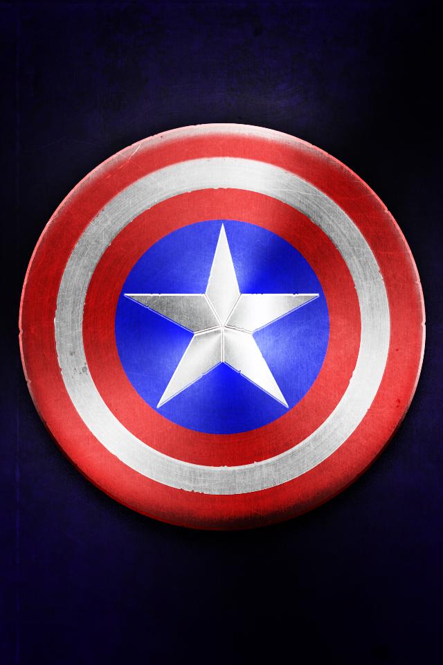 iphone wallpaper by tinsdar d4v1cpo Captain America Shield Wallpaper 640x960