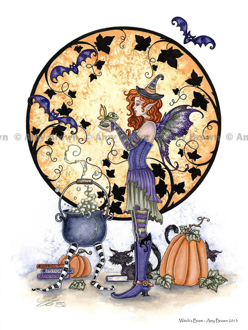 Amy Brown Fairies Dragon Witchs brew by amy brown 800x1065