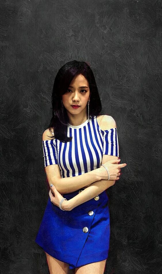 Jisoo Blackpink Cute Blue Wallpaper HD KPOPedia 563x949
