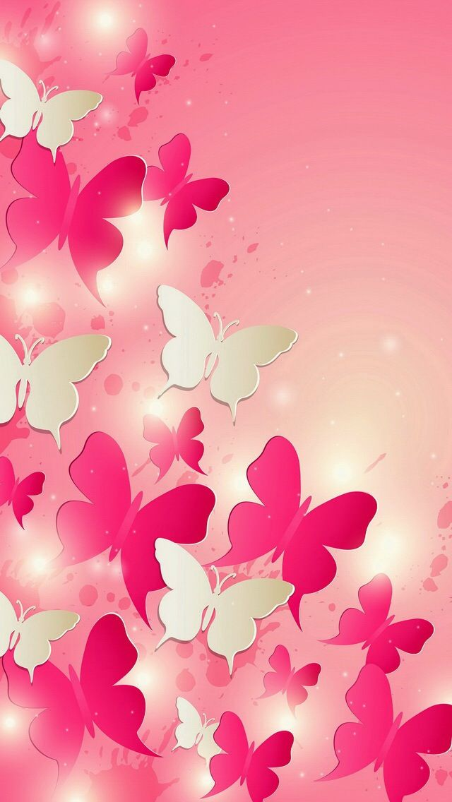 Butterflies Pink Butterflies in 2019 Butterfly wallpaper 640x1136