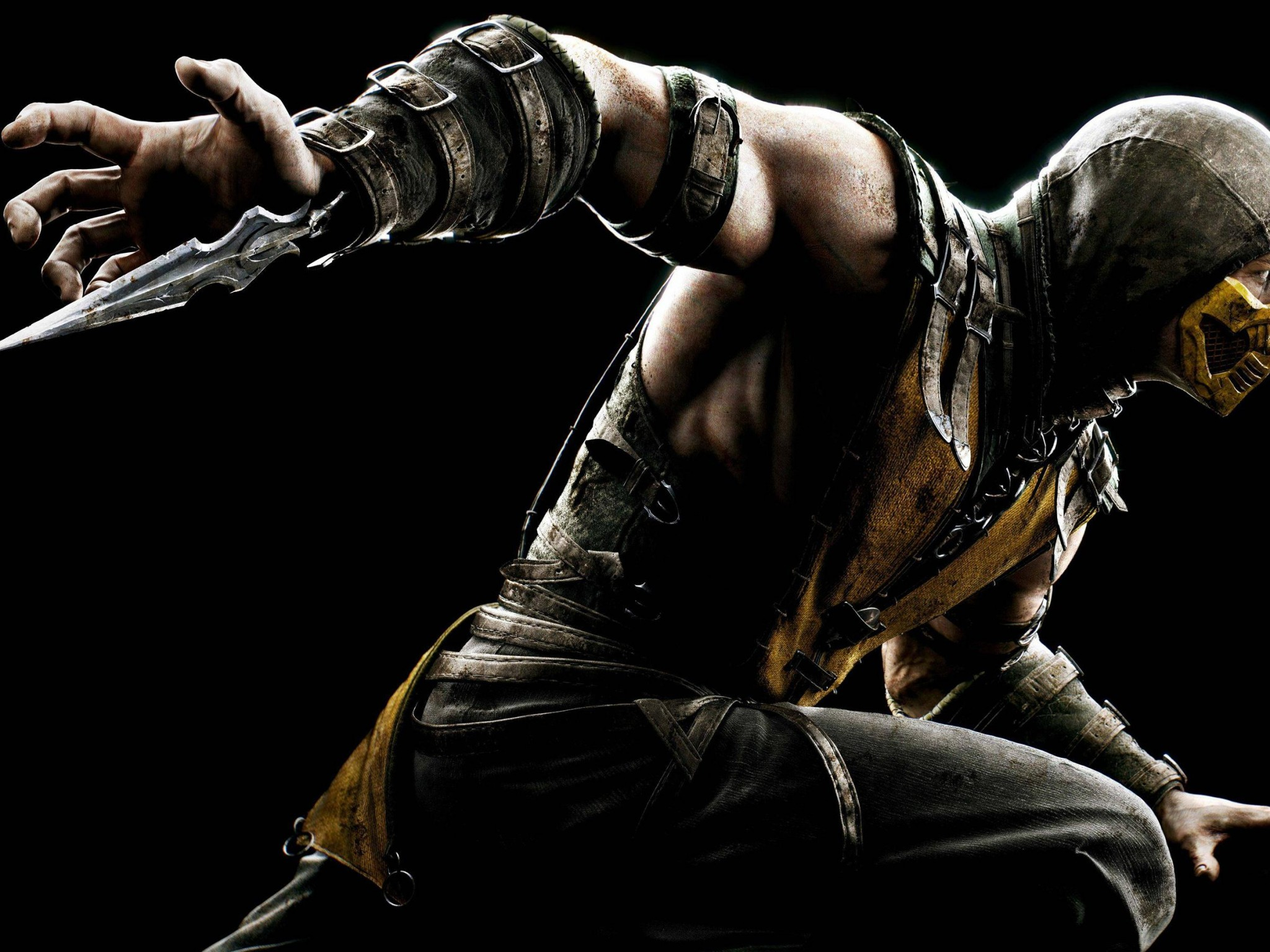 Mortal Kombat X Scorpion HD desktop wallpaper Widescreen High 2048x1536