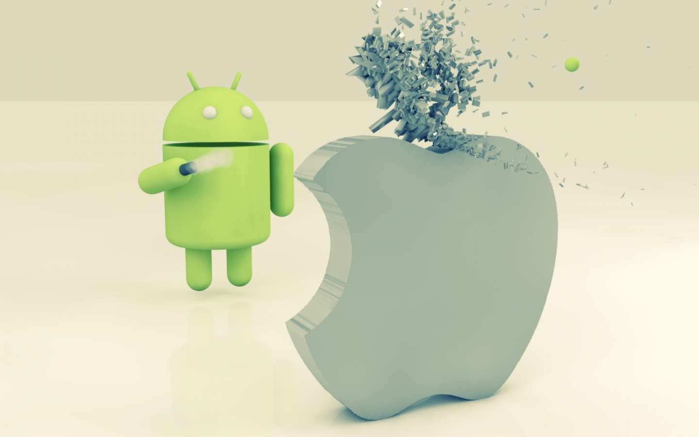 1440x900 Apple vs Android desktop PC and Mac wallpaper 1440x900