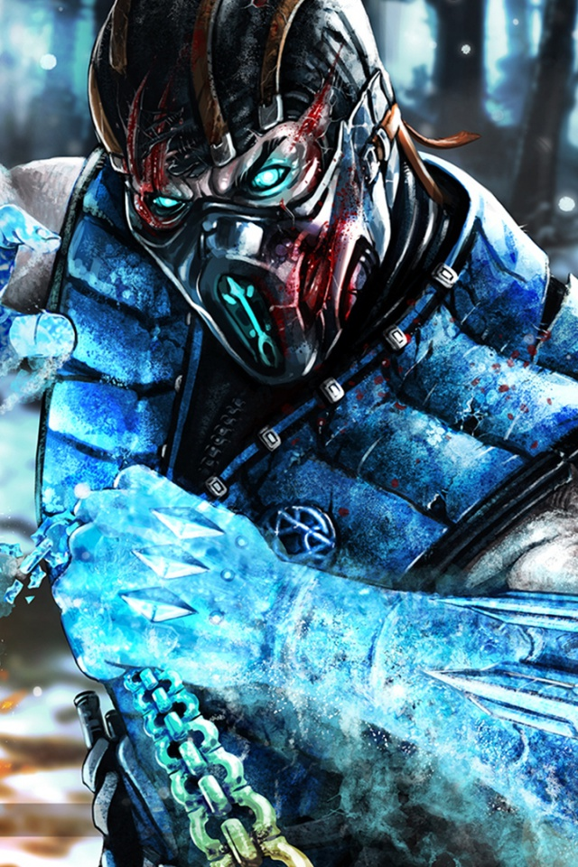 640x960 Mortal Kombat X Subzero Iphone 4 wallpaper 640x960