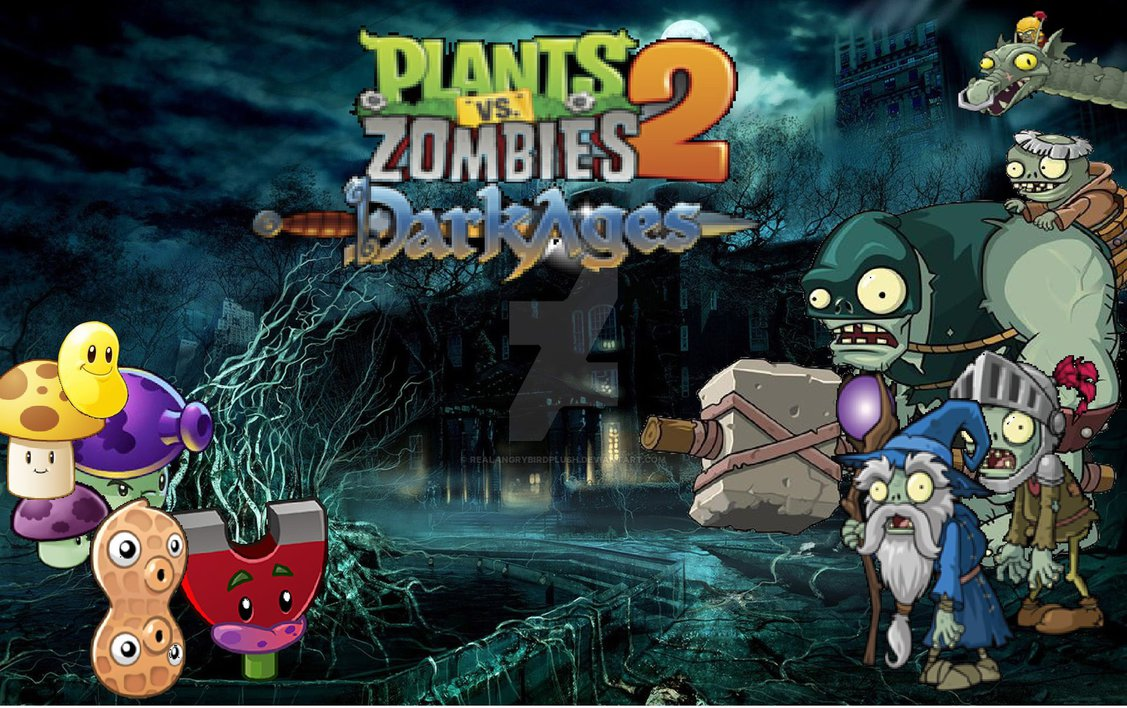 Free Download Plants Vs Zombies 2 Dark Ages Wallpaper By