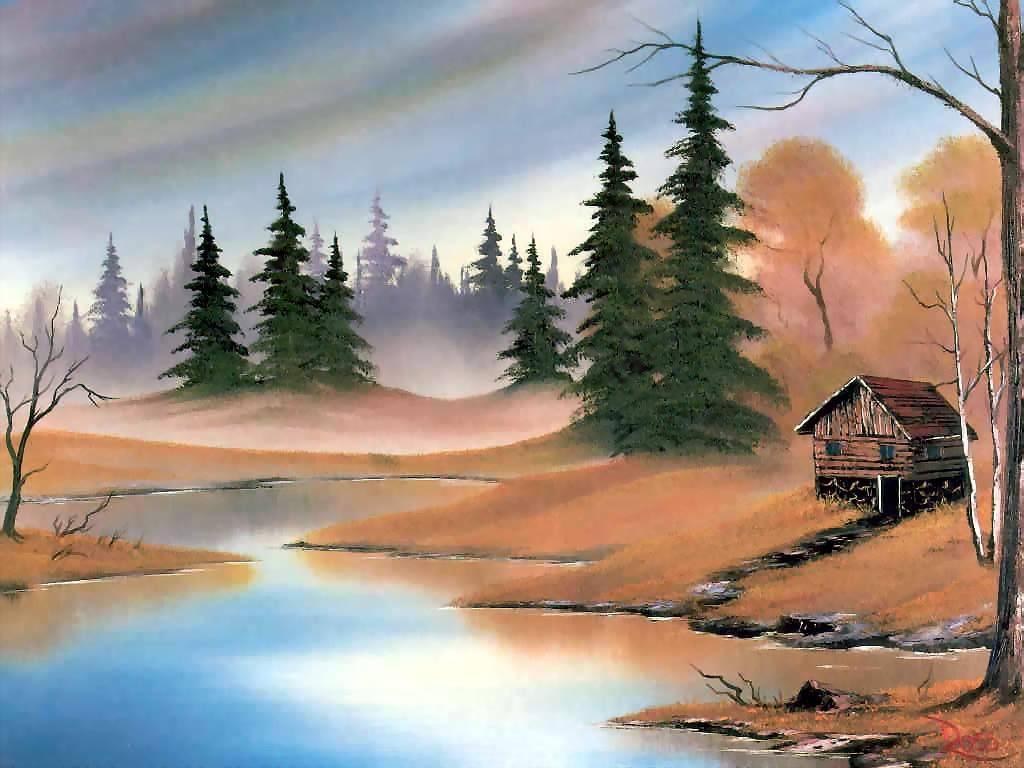 Oil Painting Landscape Wallpaper Oil Painting Wallpaper Desktop 1024x768