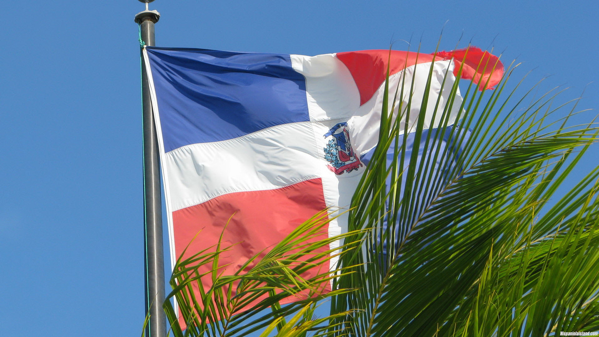 1920x1080px Dominican Republic Flag Backgrounds by Rick Eaton 1920x1080