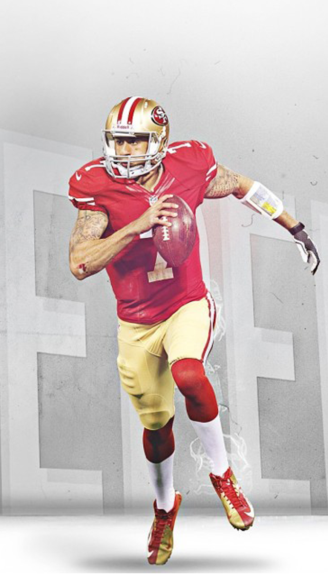 Colin Kaepernick 49ers Wallpaper 640x1136