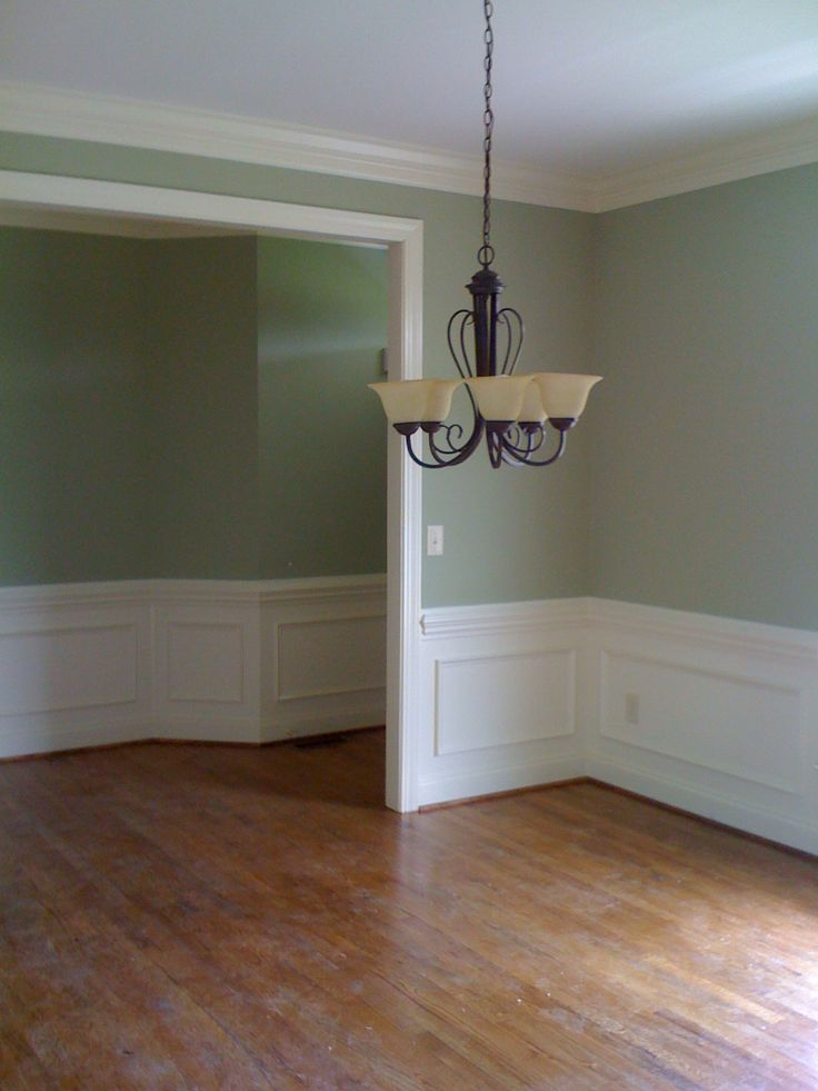 Sherwin Williams Softened Green and Dover White Color Inspiration 736x981