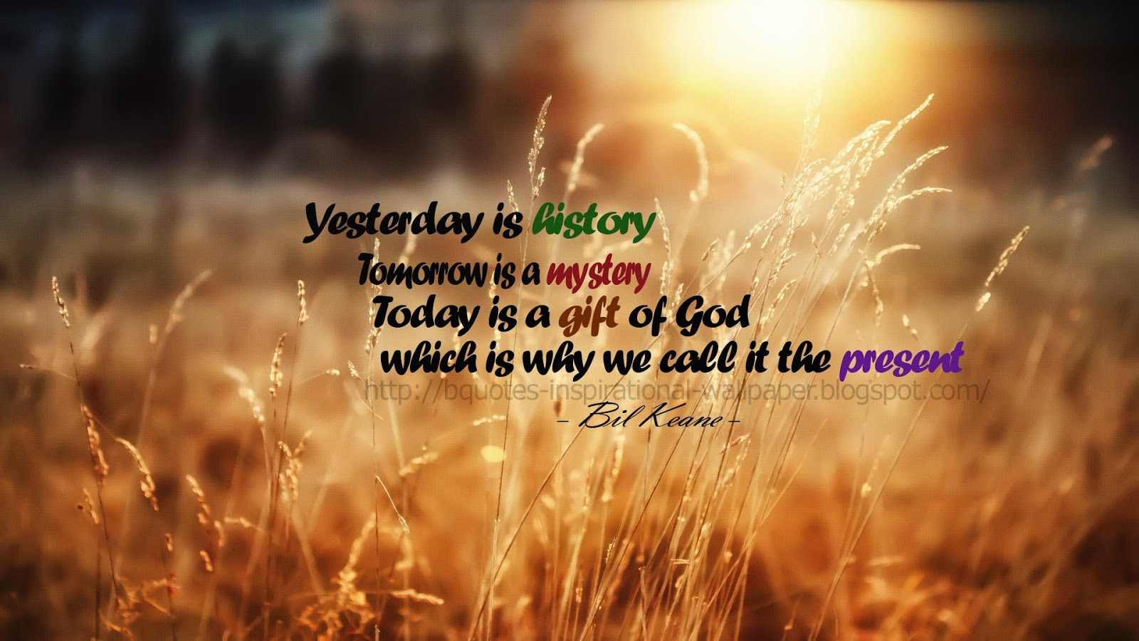 And Inspirational Wallpapers Yesterday is history   Quote Wallpaper 1600x900