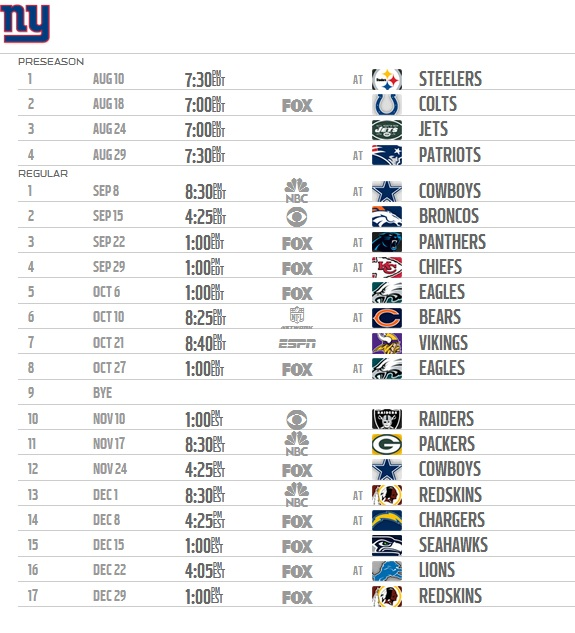 image regarding Ny Yankees Printable Schedule titled Obtain Fresh York Giants Printable Routine 2014 2015